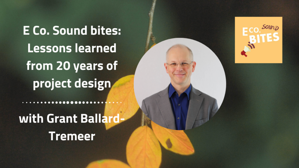 E Co. Sound bites: Lessons learned from 20 years of project design with Dr Grant Ballard-Tremeer